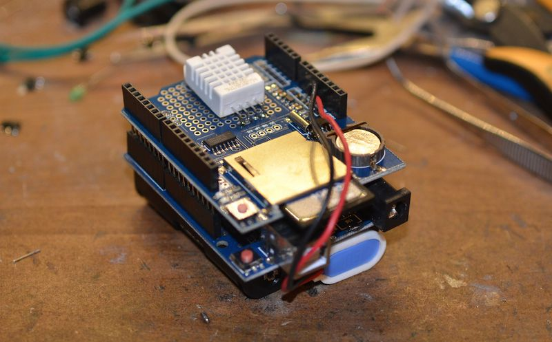 Arduino low power temp humidity webshed